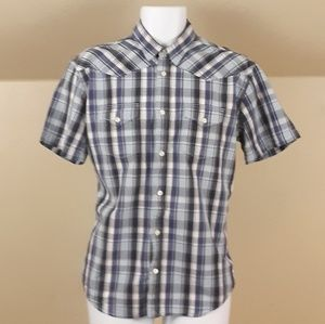 Lucky Brand Pearl Snaps Western Button Down Shirt